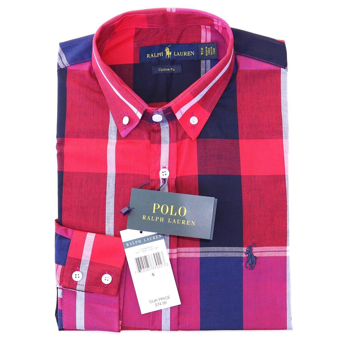 camisa social ralph lauren masc c fit vermelho azul original. Carregando  zoom. 2810a506b8c
