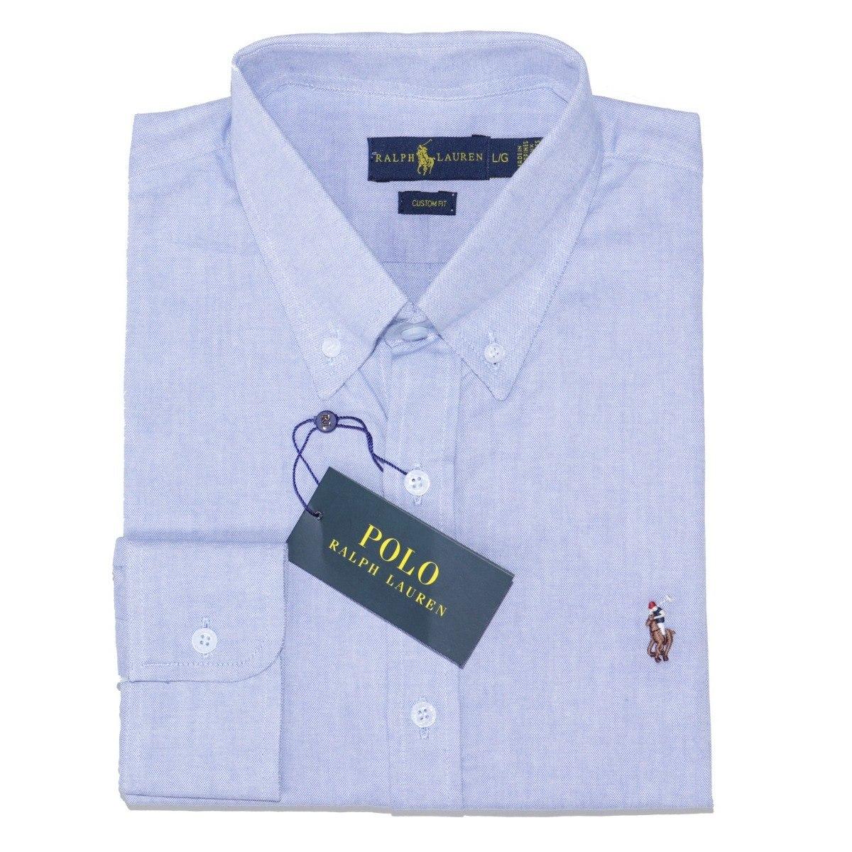 5ff6255d29d camisa social ralph lauren masc cst fit azul oxford original. Carregando  zoom. ... d848691447c