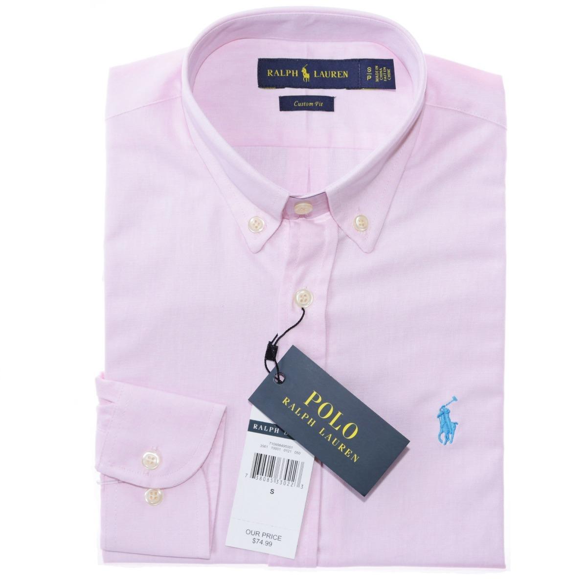 camisa social ralph lauren masc cst fit rosa oxford original. Carregando  zoom. 0eb4c49f8ea