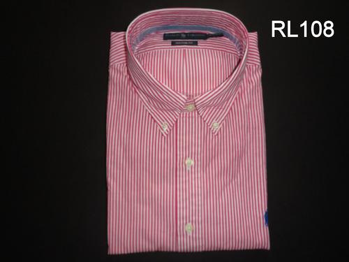 camisa social ralph lauren masculina manga longa 3g /  xgg