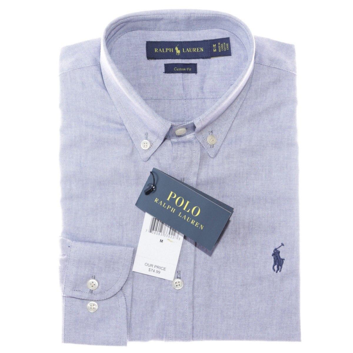 d20dbaeb55a50 camisa social ralph lauren oxford azul acinzentado original. Carregando  zoom.