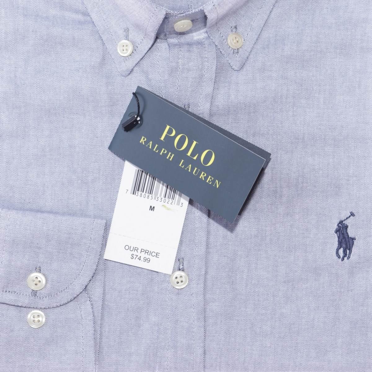 e73d606e32654 camisa social ralph lauren oxford azul acinzentado original. Carregando  zoom.