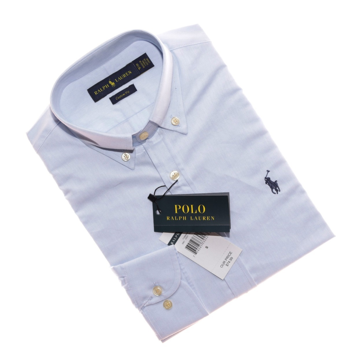 camisa social ralph lauren oxford azul claro cs fit original. Carregando  zoom. a6adb327c4b