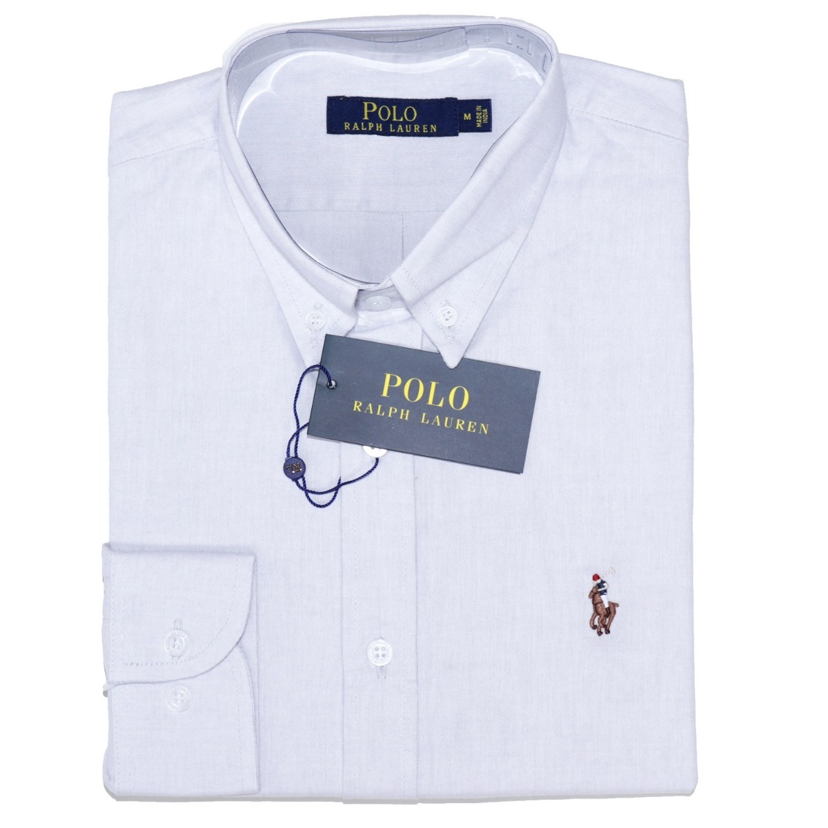 dc98e739ae camisa social ralph lauren oxford masculino cinza original. Carregando zoom.