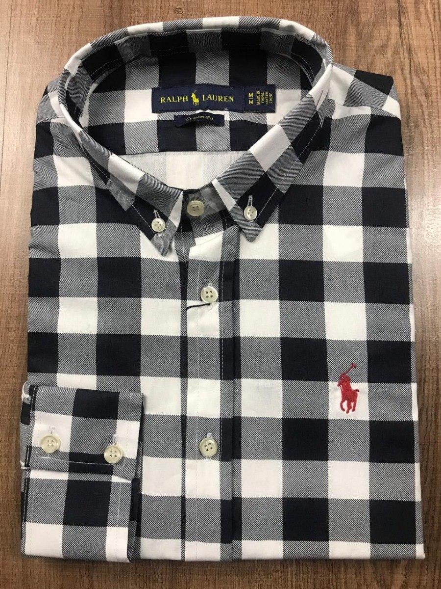 camisa social ralph lauren vermelha e azul xadrez original. Carregando zoom. 856e703018a