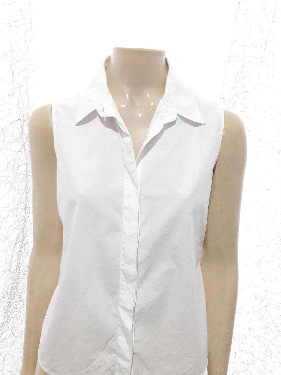 666b27ec8a camisa social regata feminina botões branca da ellus. Carregando zoom.