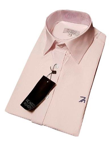 camisa social ricardo almeida rosa estampada