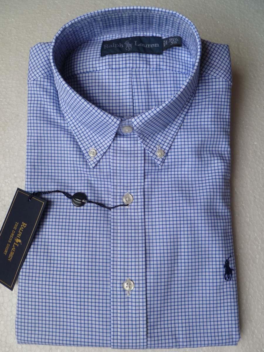 9e5c31a6f8 Camisa Social Rl Tam.m 15 1 2 Azul Quadriculada Original! - R  179 ...
