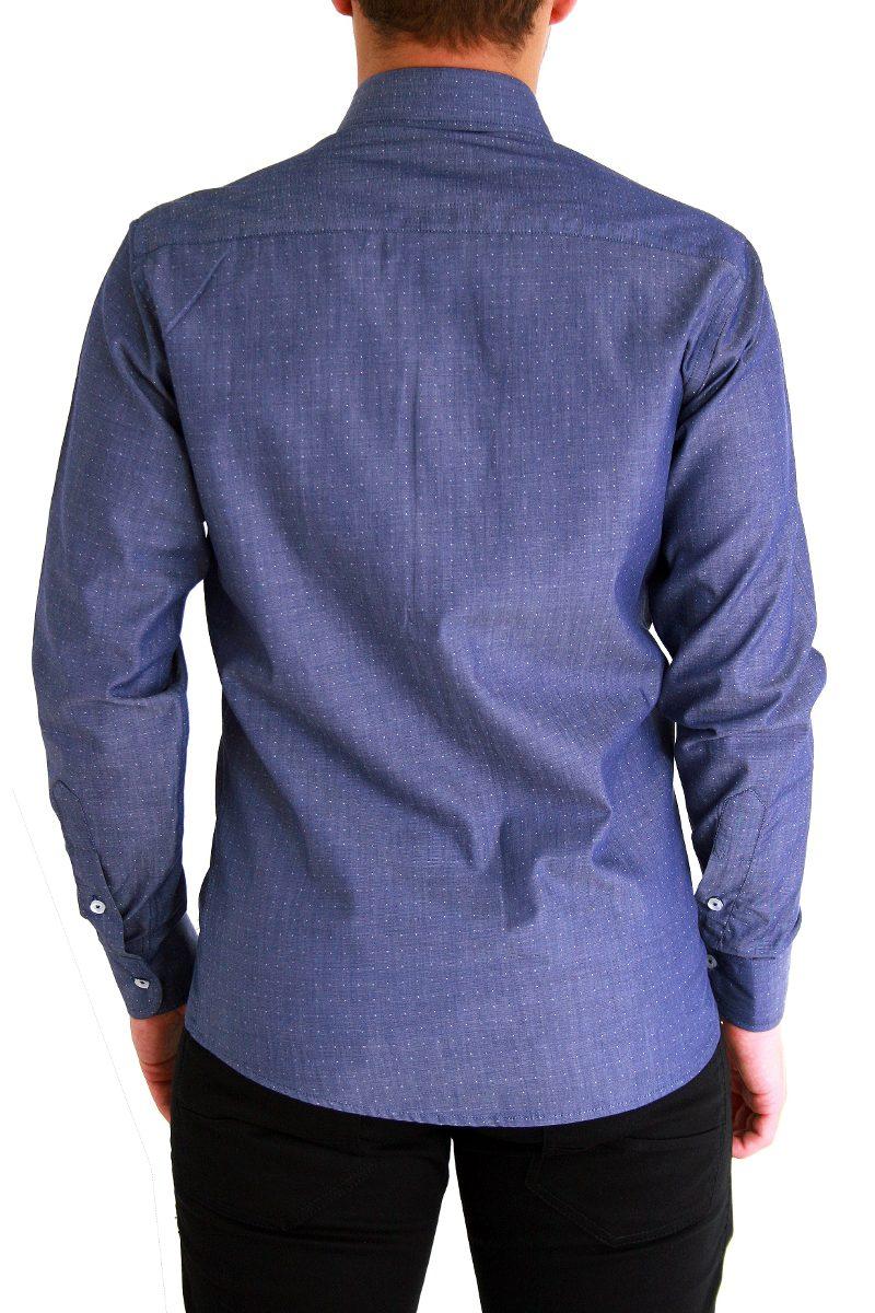 camisa social slim fio 100 estilosa bolinhas pronta entrega. Carregando zoom . 2db1a89c3a77b