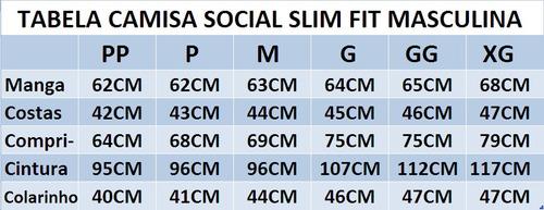camisa social slim fit 3/4 estilo canadá frete grátis p/ 2un