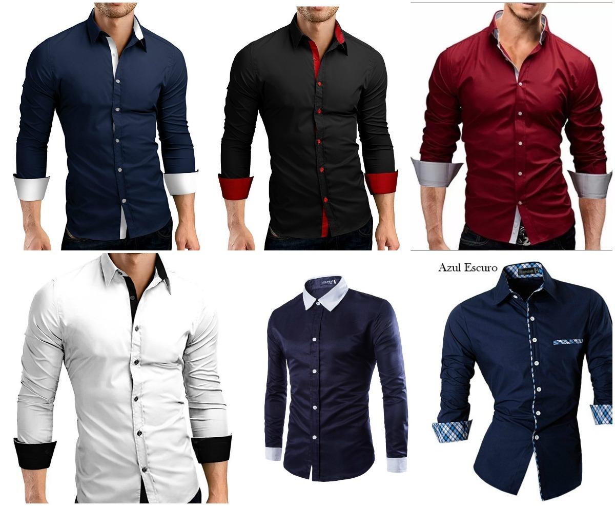 Camisa Social Slim Fit - + De 20 Modelos - 12x S juros - R  60 aa1e106e81f