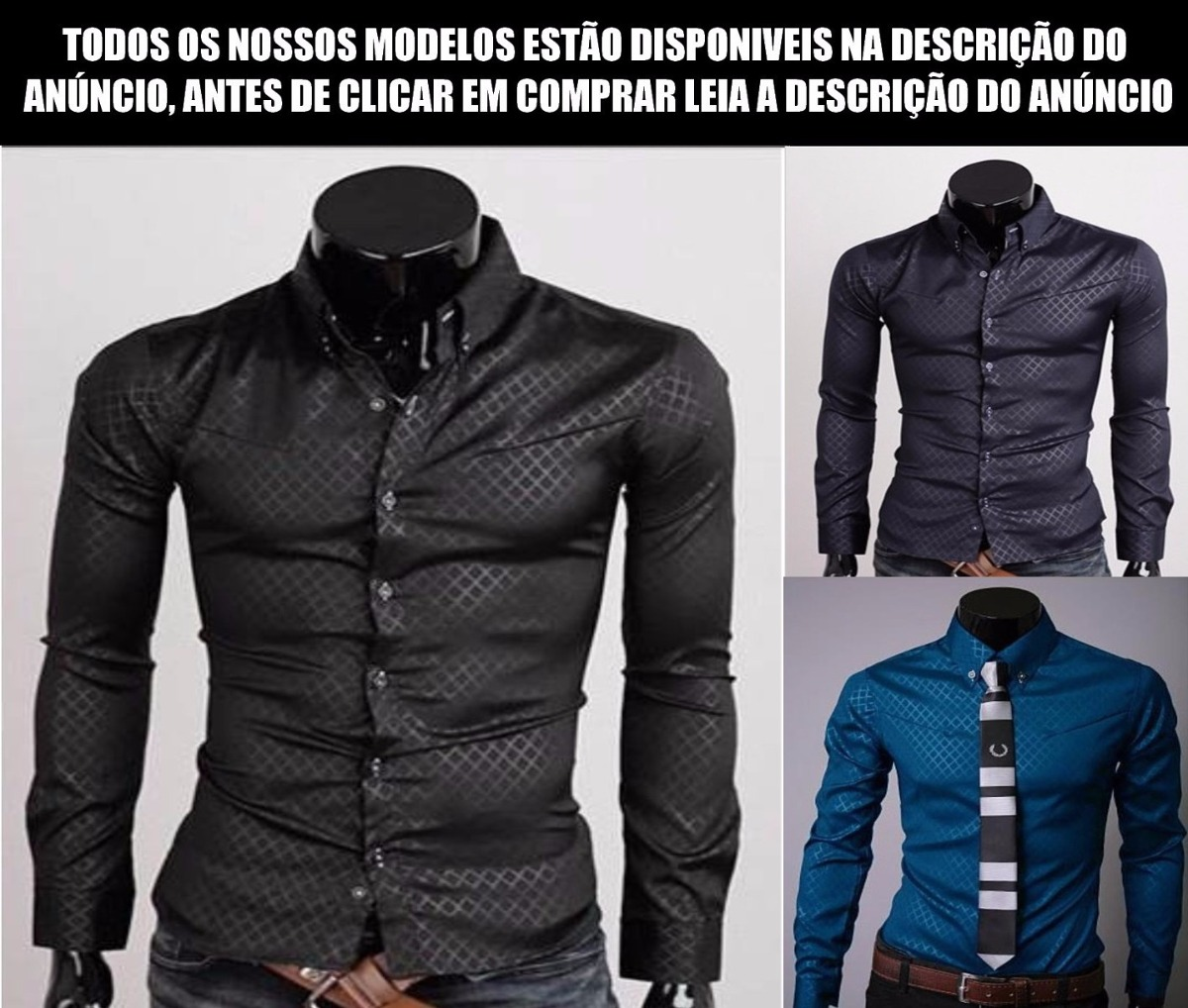 Camisa Social Slim Fit De Luxo Frete R 10 96f861f0a9922
