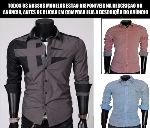 camisa social slim fit de luxo importada, promoção