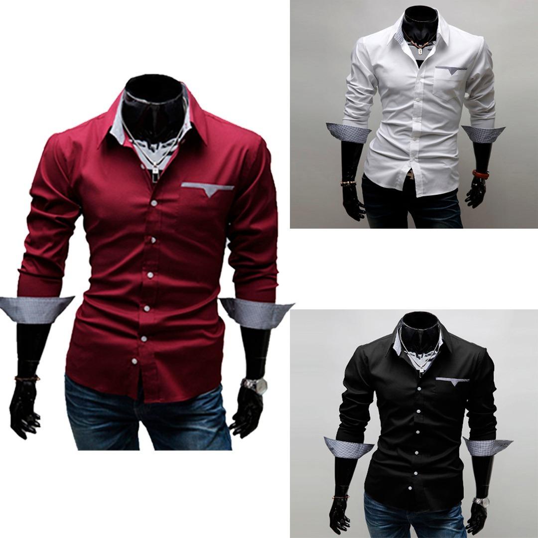 5162d68d84 camisa social slim fit estilo europeu luxo pronta entrega!! Carregando zoom.