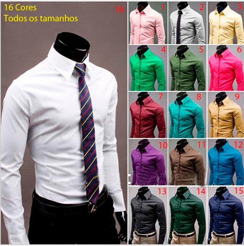 79013e5048f Camisa Social Slim Fit Importada - Vários Modelos