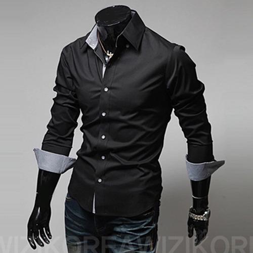 camisa social slim fit masculina a pronta entrega promoção