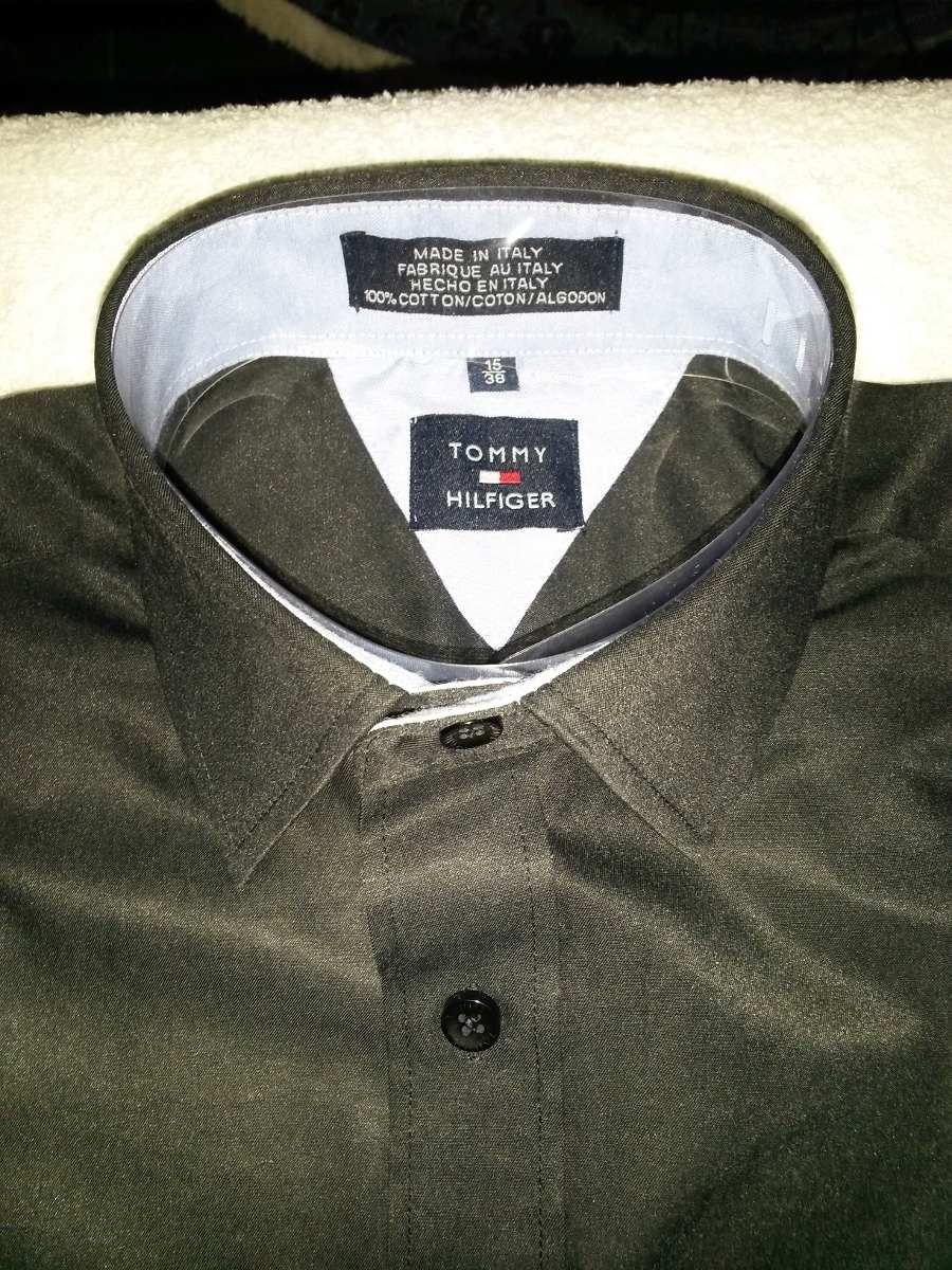 ffc26cddbf camisa social slim fit masculina preta tommy usada. Carregando zoom.