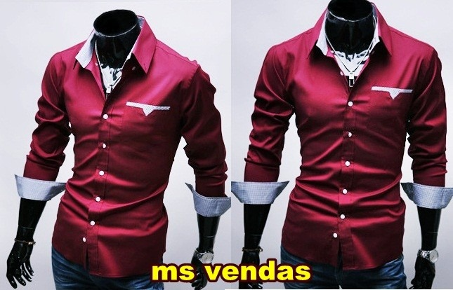 4475107ff Camisa Social Slim Fit Masculina - Pronta Entrega - Acesse! - R  216 ...