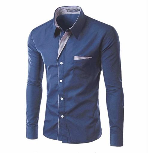 acd7406f3b Camisa Social Slim Fit Moderna Pronta Entrega - R  44