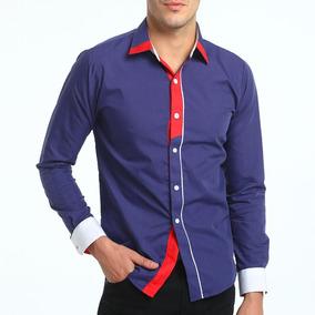 a4db2695db7c Camisa Damyller Masculino - Camisa Formal Longa Masculinas Violeta ...