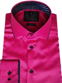 4a942e6e57 Camisa Rosa Em Cetim Homem Social Masculino - Camisas no Mercado ...