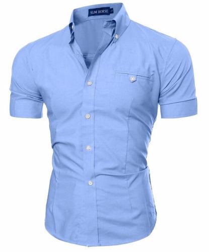 camisa social slim fit super estilosa - baixou o preço!!!