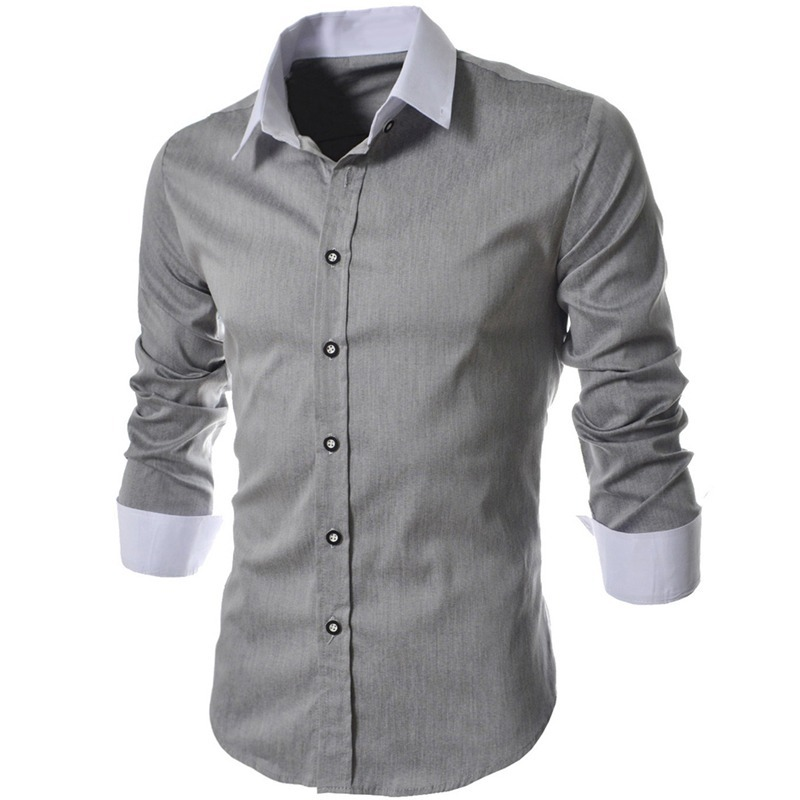 20857953989 Camisa Social Slim Fit Top Masculina Luxo Estilosa Importada