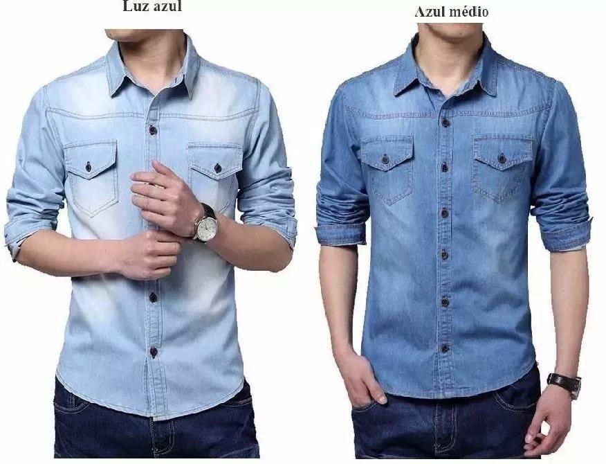 Camisa Social Slim Jeans A Prona Entrega + Frete Gratis - R  120 c07b12672c3b7