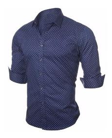 3f08bb9090cad Camisa Social Com Bolinhas Vinho - Camisas com o Melhores Preços no Mercado  Livre Brasil