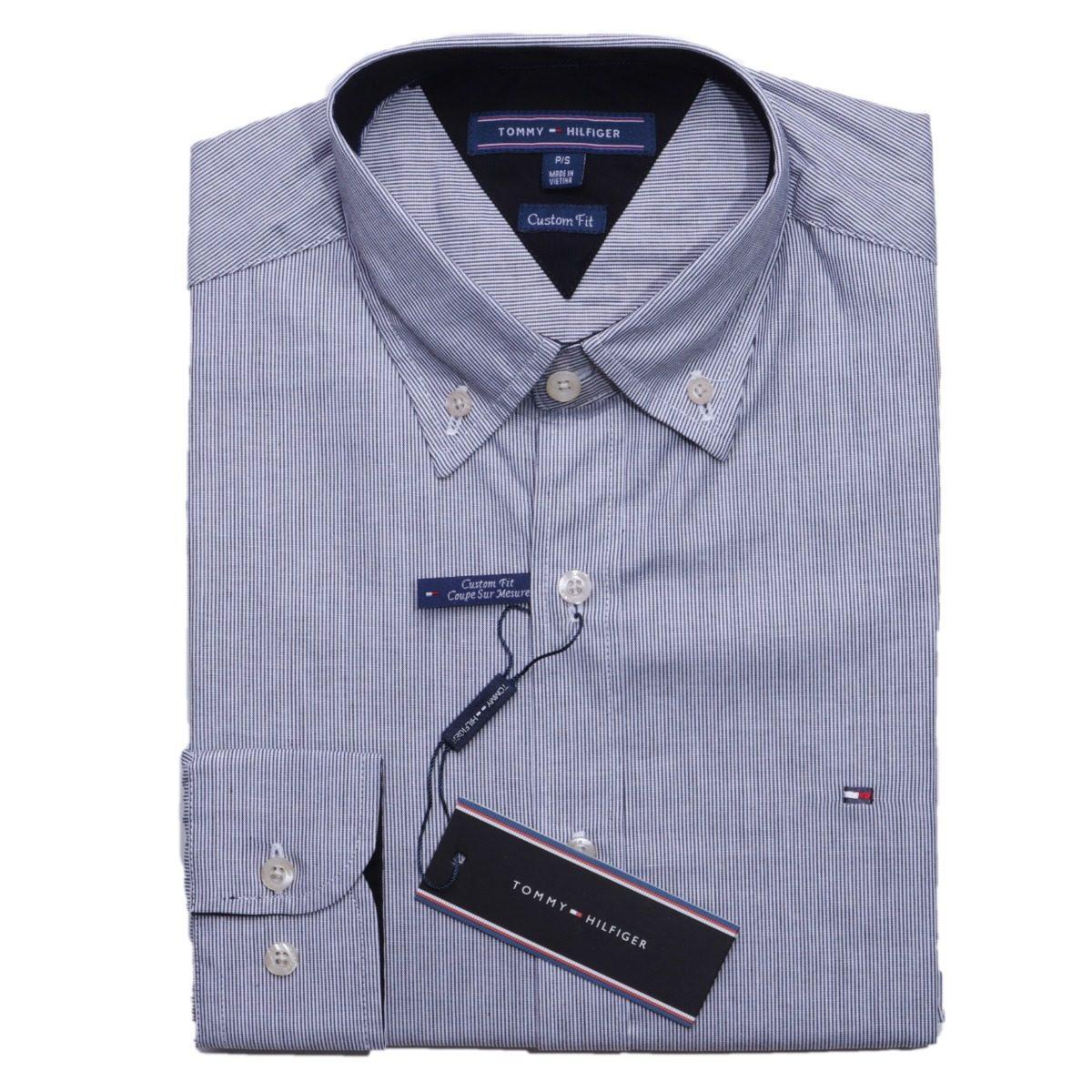 e77cb27dd5 Camisa social tommy hilfiger fit listrada preto original carregando zoom  jpg 1200x1200 Camisa social listrada tommy