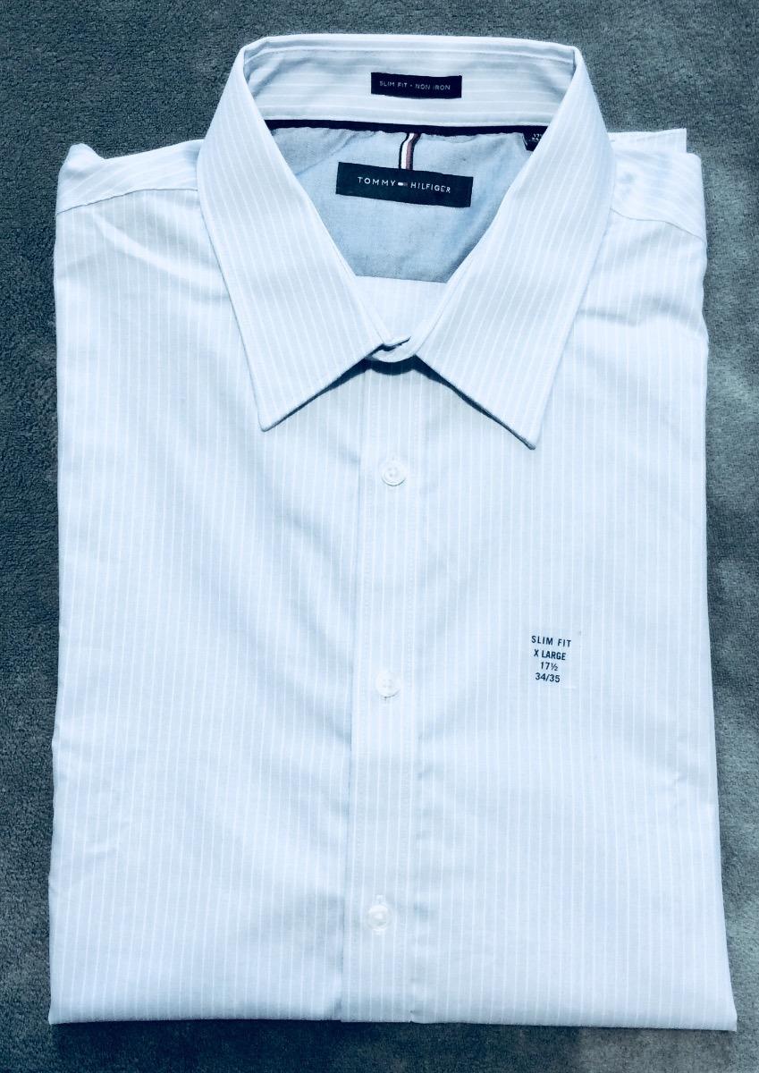 camisa social tommy hilfiger gg original slim fit non iron. Carregando zoom. 58a7f93bf28dd