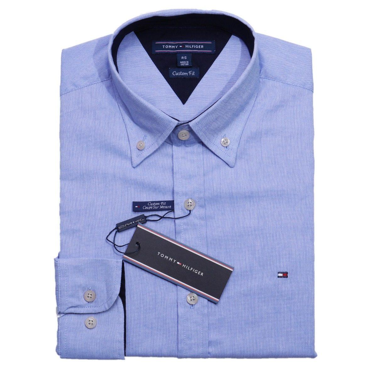 camisa social tommy hilfiger masc azul custom fit original. Carregando zoom. 312053f35c41b