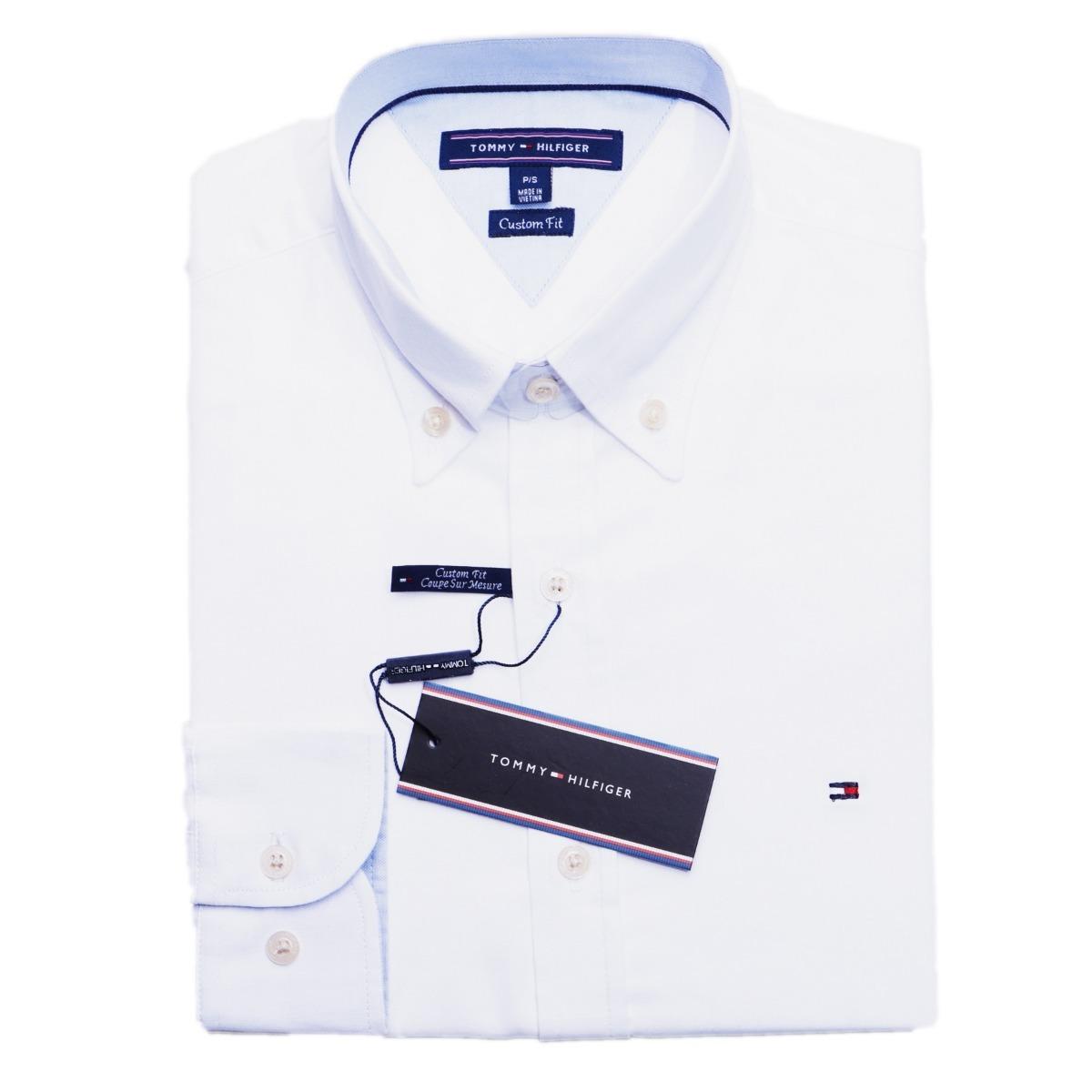 camisa social tommy hilfiger masc custom fit branca original. Carregando  zoom. cbd3c1c7c679e