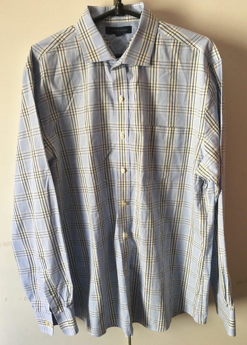 990569def5 camisa social tommy hilfiger slim fit azul listrada. Carregando zoom.