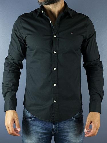 camisa social tommy hilfiger - tam: váriados ( custon fit )