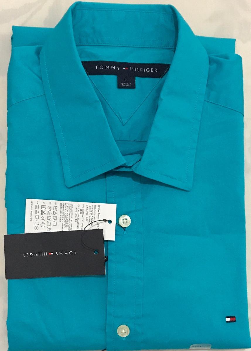 camisa social tommy hilfiger tamanho m original promoção. Carregando zoom. 75dd798117a3c
