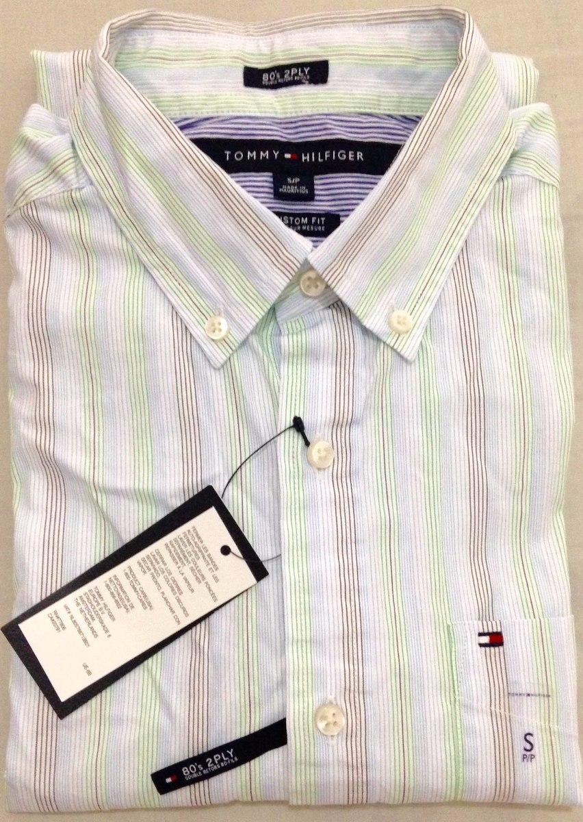 camisa social tommy hilfiger tamanho p s original custom fit. Carregando  zoom. 1e3c02541aad9