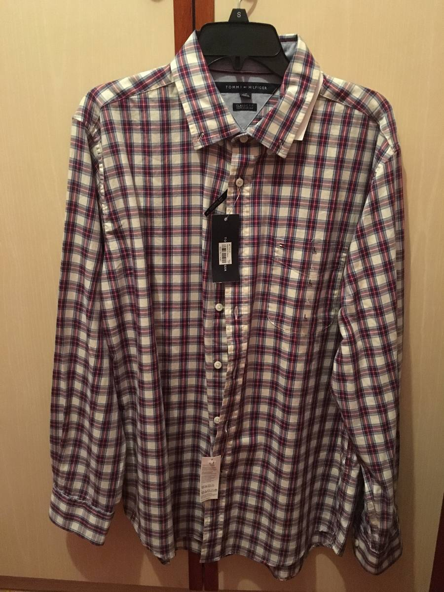 c8a9653f15 camisa social tommy hilfiger xadrez original nova masculina. Carregando  zoom.