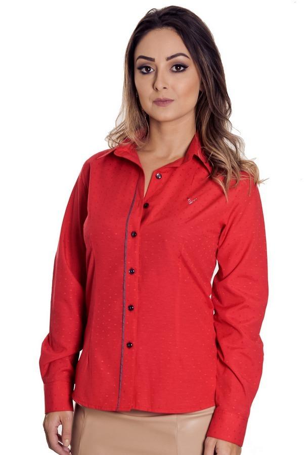 4fdc3d4c55b2c camisa social vermelha feminina daya - pimenta rosada. Carregando zoom.