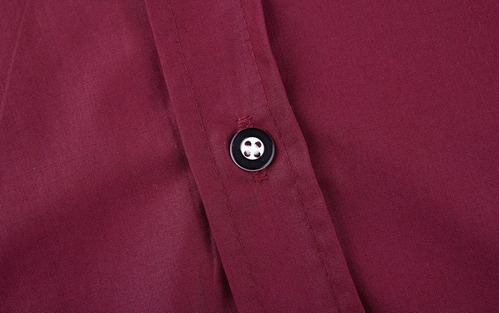 camisa social vinho masculina bordo slim fit meia manga 3/4