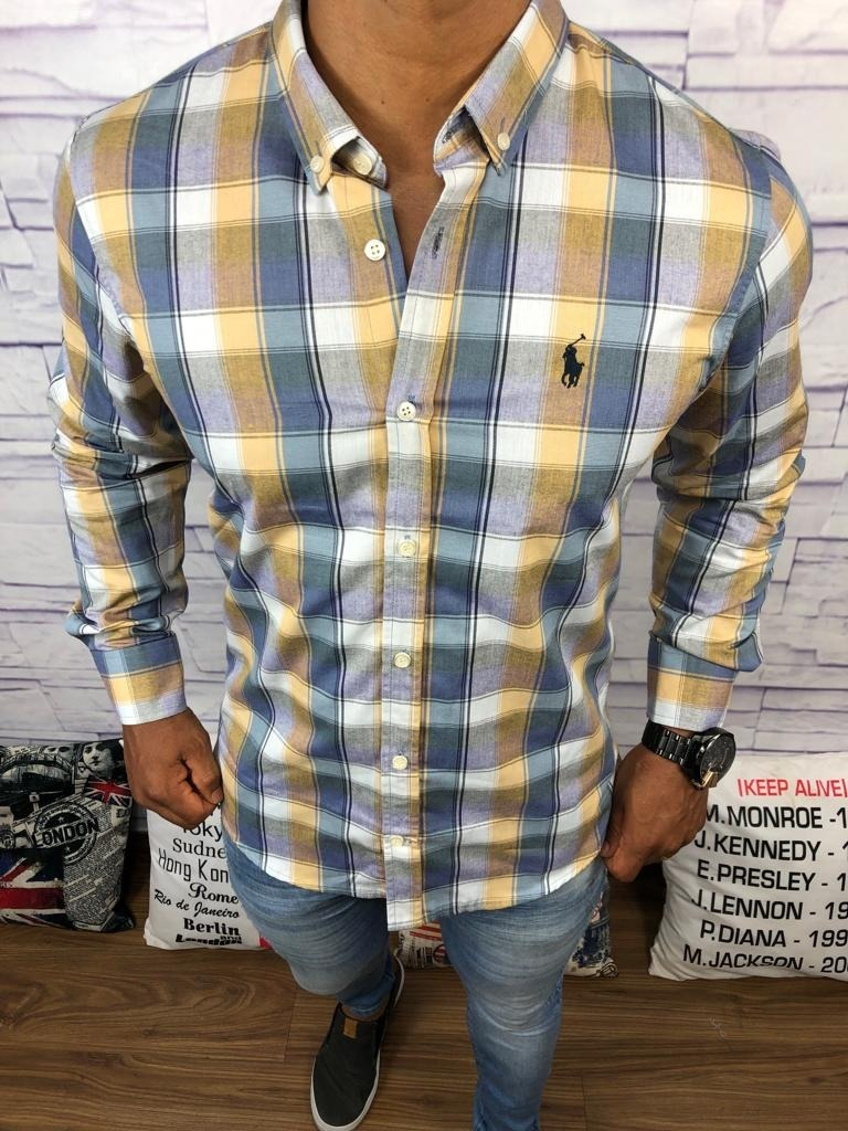 camisa social xadrez blusa camiseta ralph lauren. Carregando zoom. 47020cdaecf