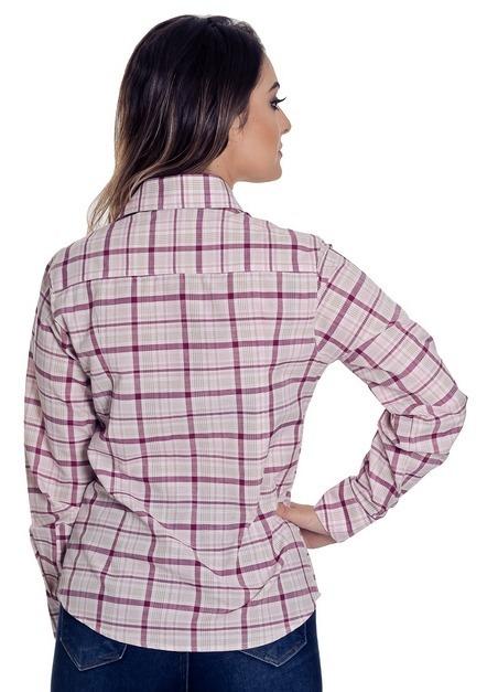 6c3b89bc2 Camisa Social Xadrez Feminina Tessa - Pimenta Rosada - R$ 124,90 em ...