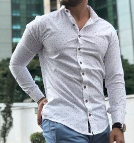 d67fb052b6 Camisa Social Masculina Folhas - Calçados, Roupas e Bolsas com o Melhores  Preços no Mercado Livre Brasil