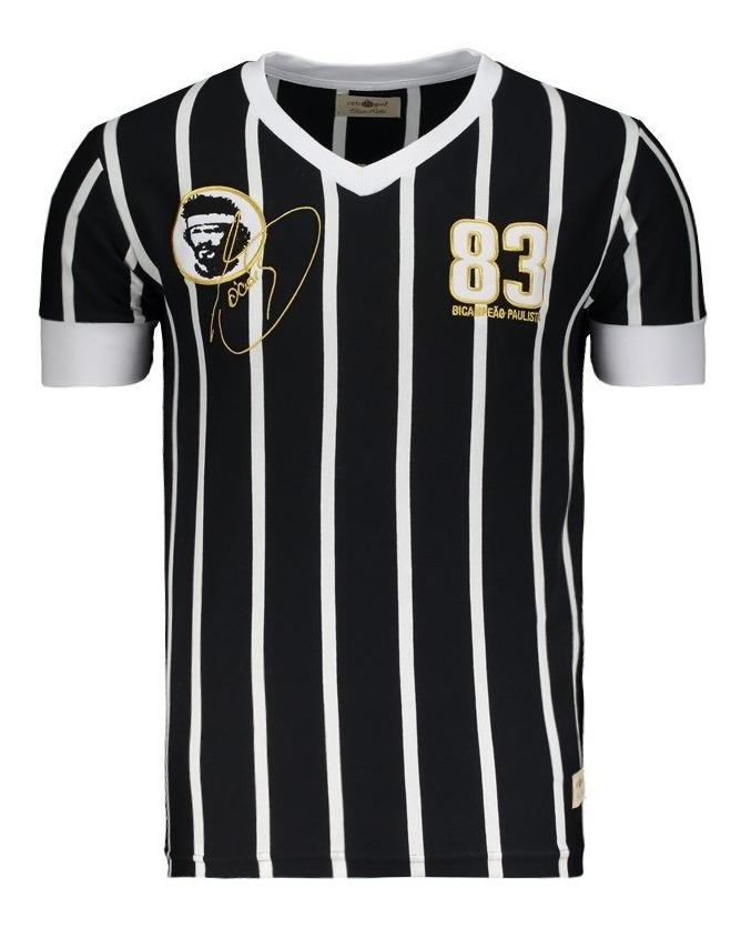 b30b210859d28 Camisa Sócrates 1983 Retrô Preta - R$ 104,90 em Mercado Livre