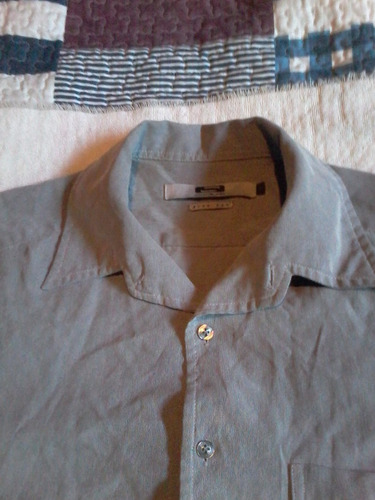 camisa sodium gris talla m slim fit