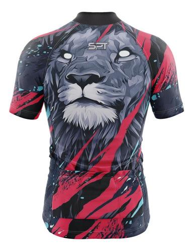 camisa spartan w (f) - ciclista - lion - ref 08 - uv50+