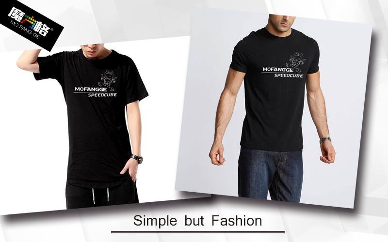 T Negra Speedcube De Qiyi Cubo Shirt Camisa Cargando Zoom Rubik Algodon  w7aAqqp 2a955e265160a