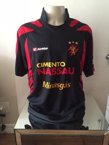 camisa sport recife - usada em jogo - 2010 - preta - no 10