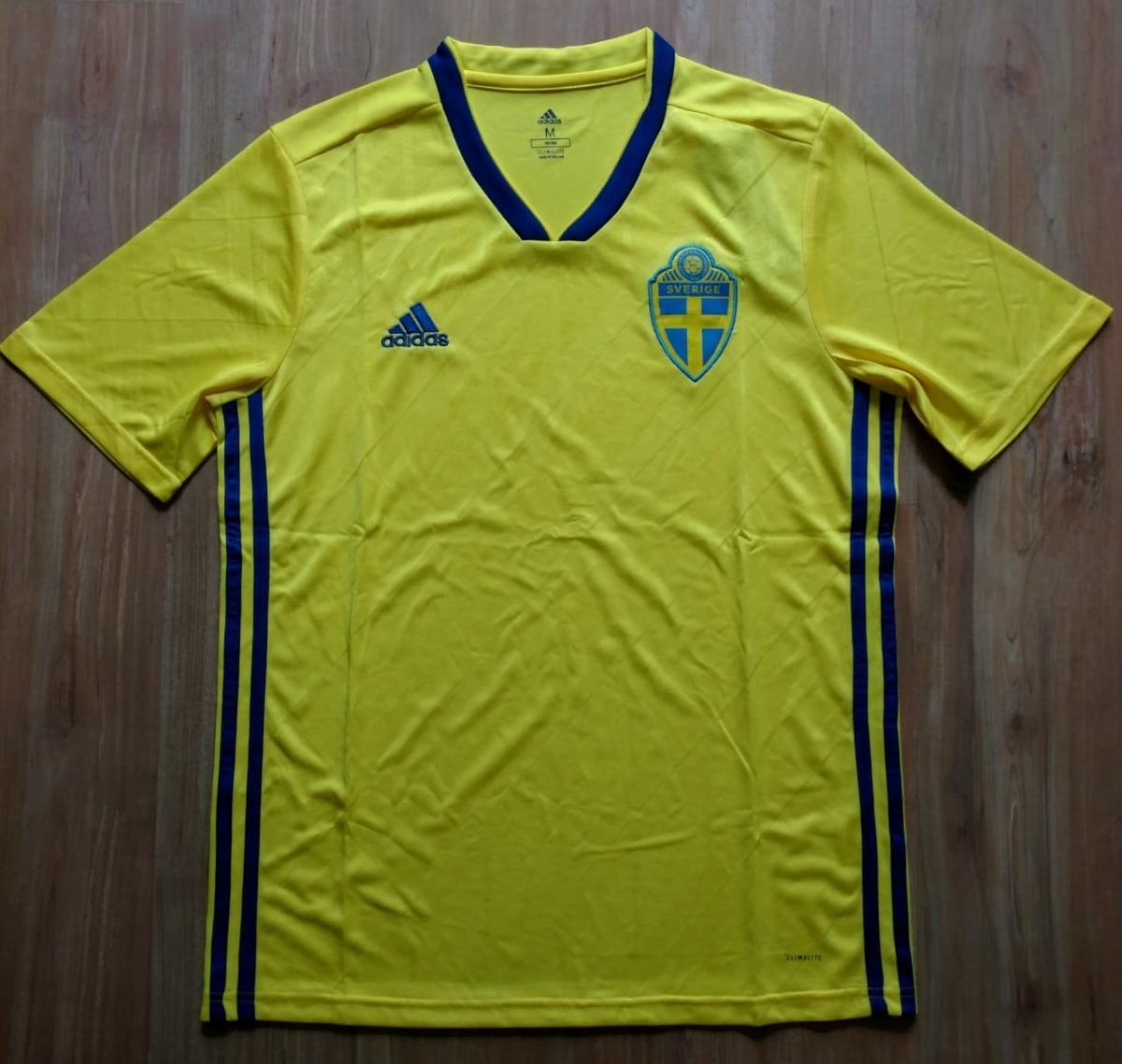 7af7511bda camisa suecia home 2018. Carregando zoom.