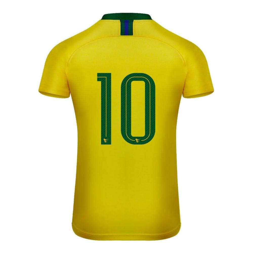 camisa super bolla brasil jogador nº10 feminino. Carregando zoom. e6d402add0126